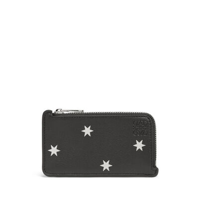 LOEWE Coin/Card Holder Stars Black/Silver front