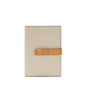 LOEWE Medium Vertical Wallet Light Oat/Honey front