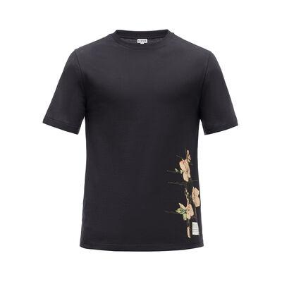 LOEWE T-Shirt Botanical ブラック front