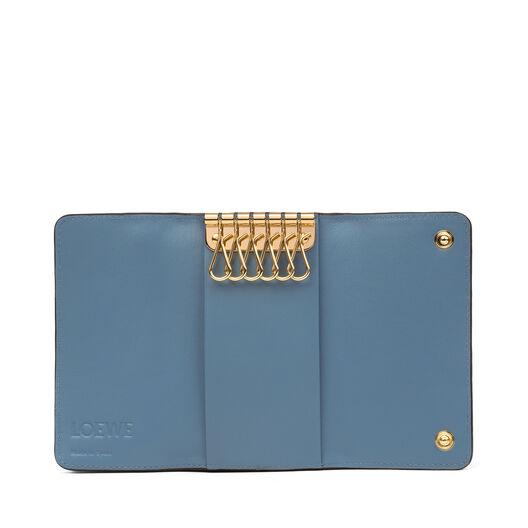LOEWE 6 Keys Keyring Stone Blue all