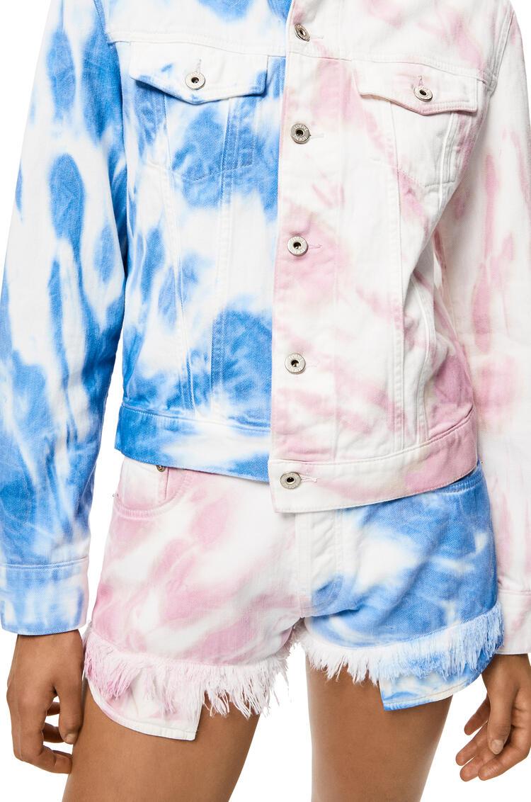 LOEWE Denim jacket in tie dye cotton Multicolor pdp_rd