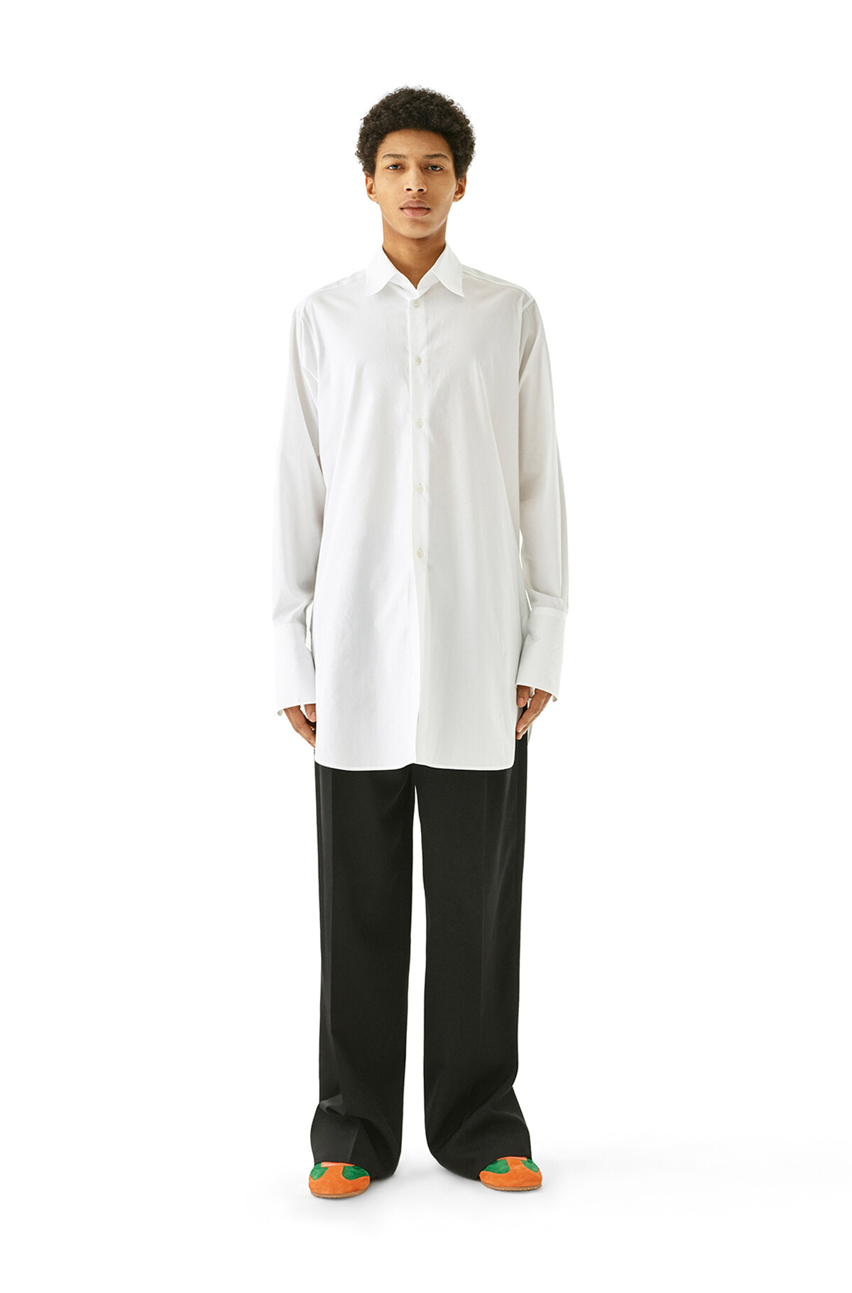LOEWE 超大号有领衬衫 白色 front