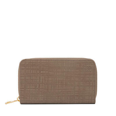 LOEWE Medium Zip Around Wallet Dark Taupe front