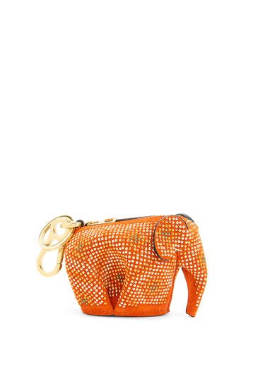 LOEWE Elephant charm in micro-studded suede Orange/Multicolor pdp_rd