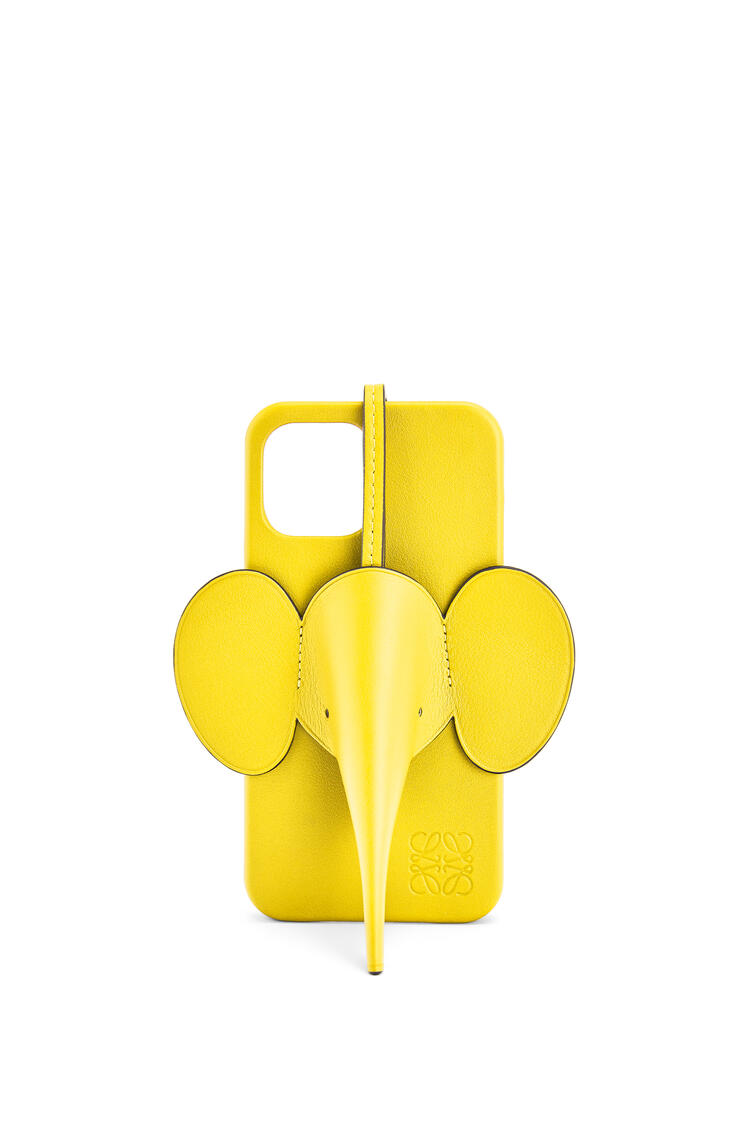 LOEWE Elephant phone cover in calfskin for iPhone 12 Pro Max イエロー pdp_rd