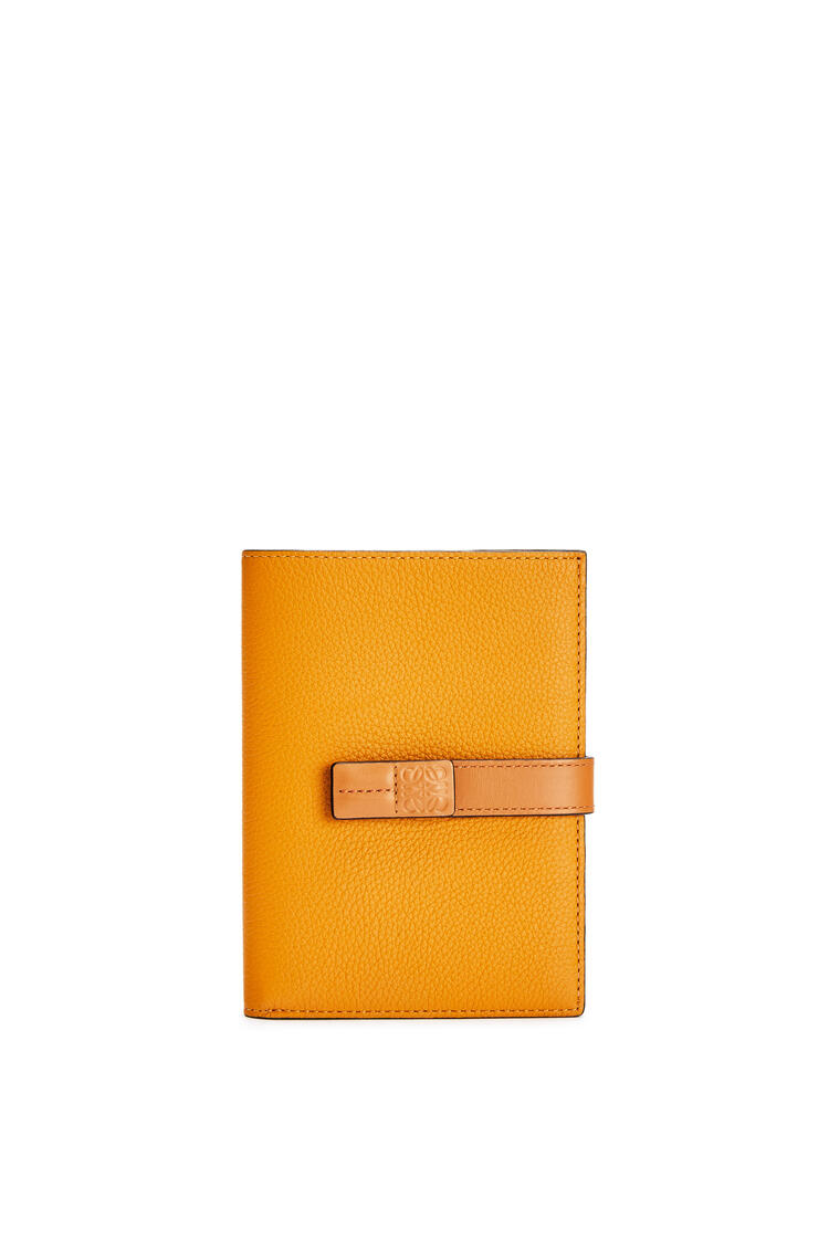 LOEWE Medium Vertical Wallet in soft grained calfskin Sunflower/Honey pdp_rd