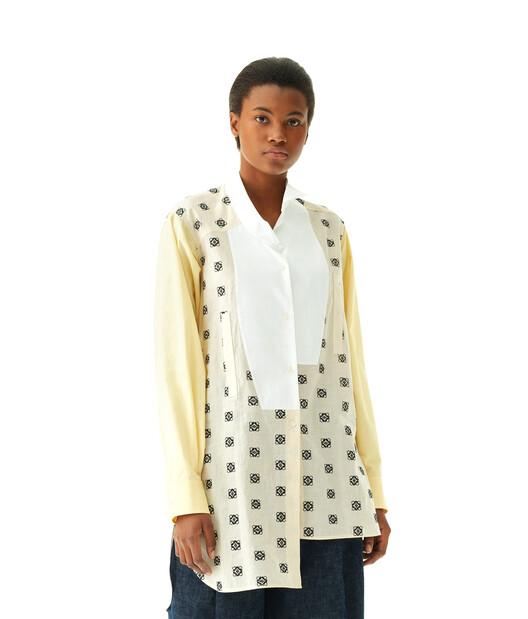 LOEWE Long Asym Shirt Broderie Amarillo/Blanco front