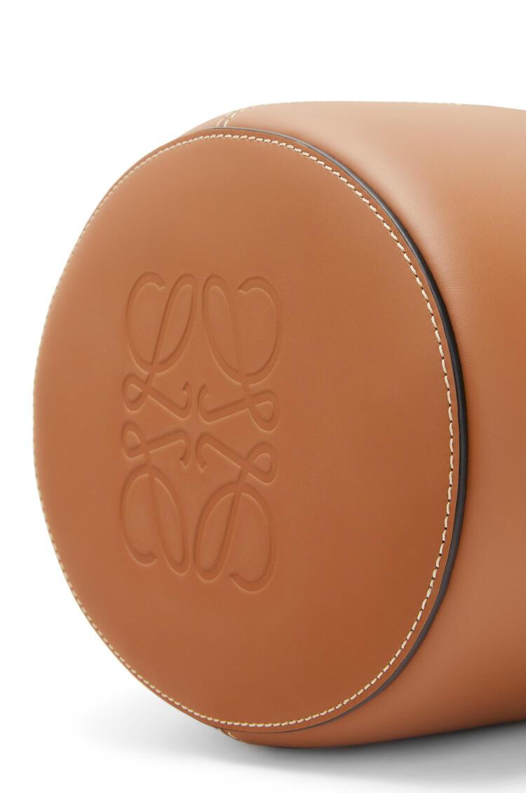 LOEWE Bolso Balloon en rafia y piel de ternera Natural/Bronceado pdp_rd