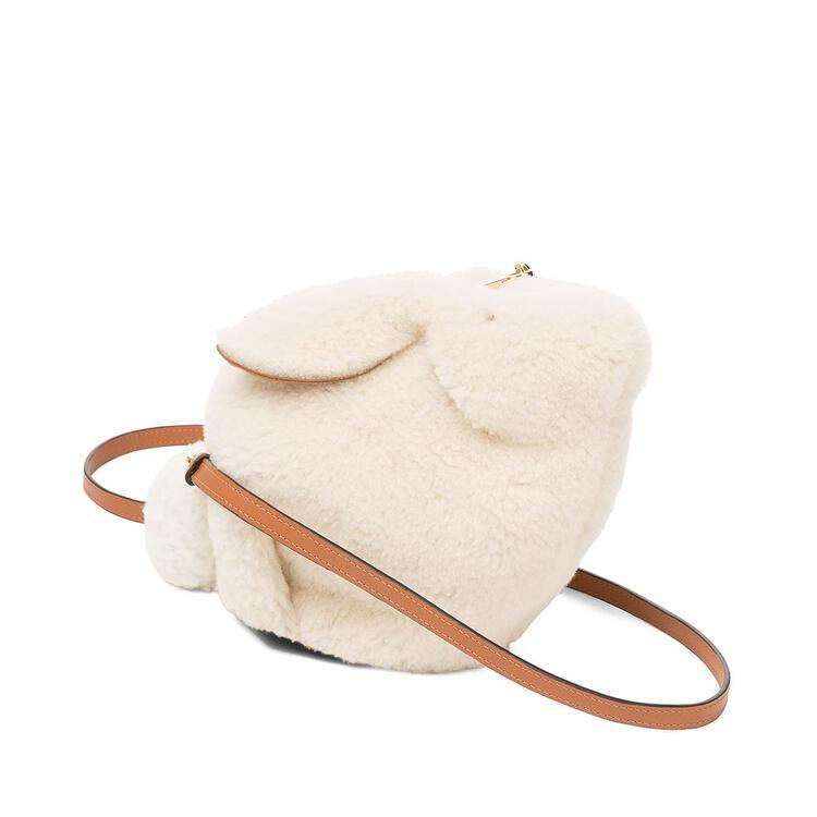 LOEWE Mini Bunny bag in shearling Natural pdp_rd