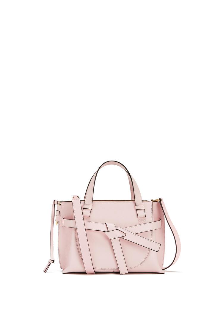LOEWE Mini Gate Top Handle bag in soft grained calfskin Icy Pink pdp_rd
