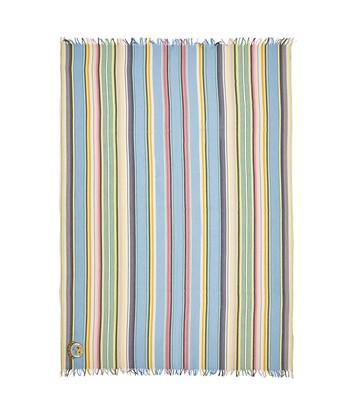 LOEWE 152X210 Scarf Stripes Azul Celeste/Verde front
