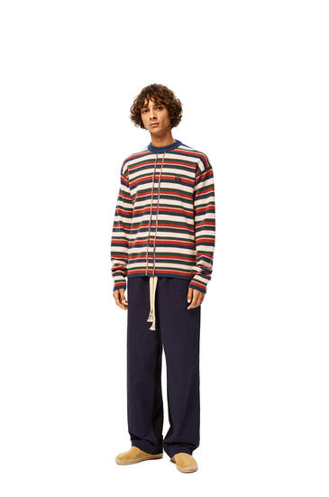 LOEWE Anagram Embroidered Sweater In Stripe Cashmere Multicolor pdp_rd
