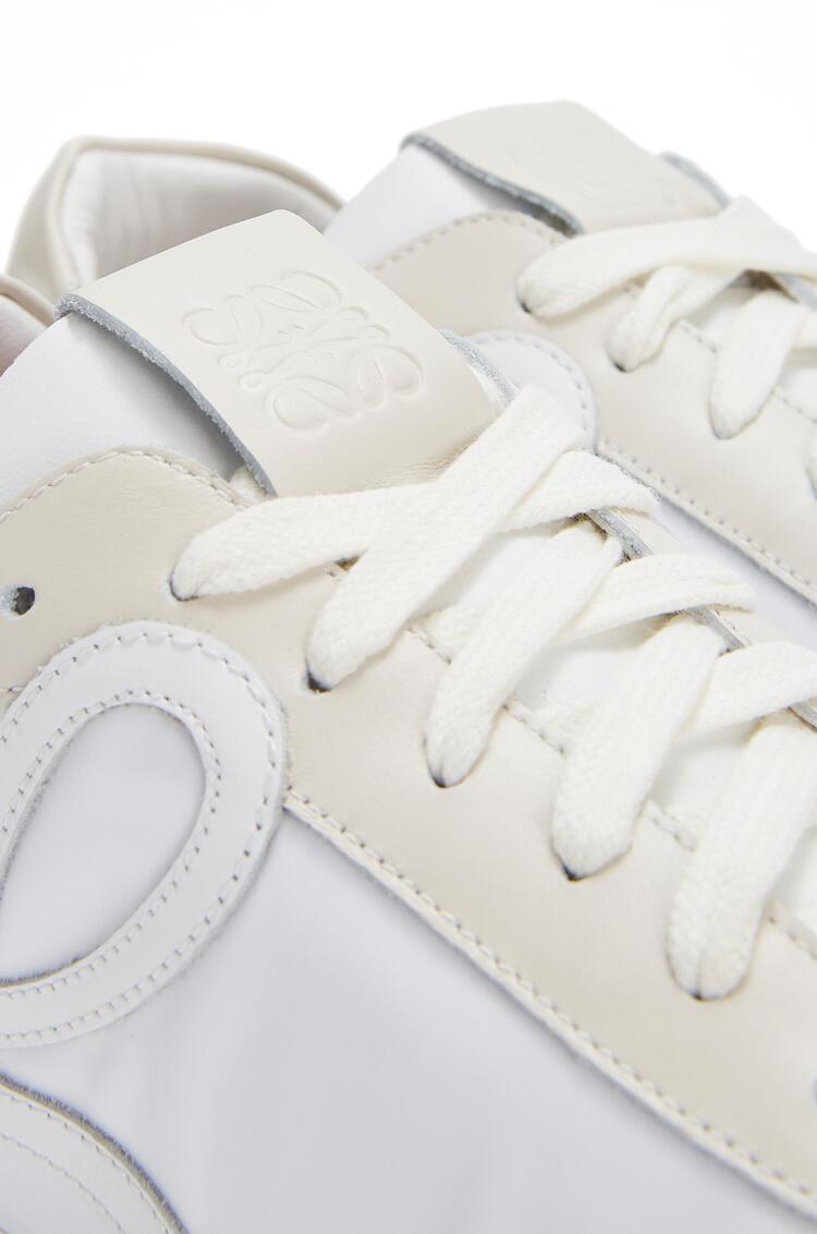 LOEWE Ballet runner in nylon and calf White/Off-white pdp_rd