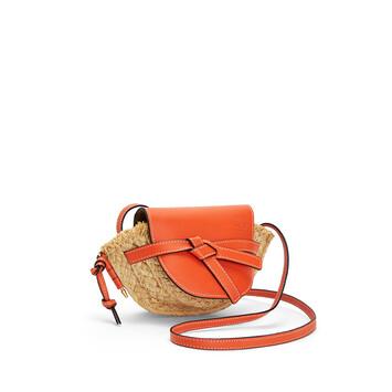 LOEWE Gate Mini Bag Orange/Natural front