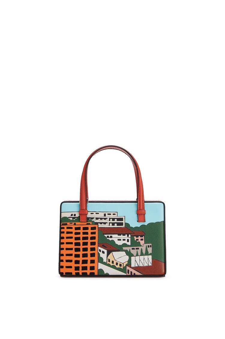 LOEWE Bolso Postal pequeño L.A. Series en piel de ternera Vermillion/Multicolor pdp_rd