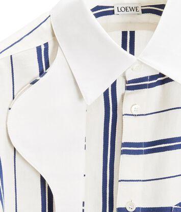 LOEWE Oversize Stripe Shirt White/Blue front