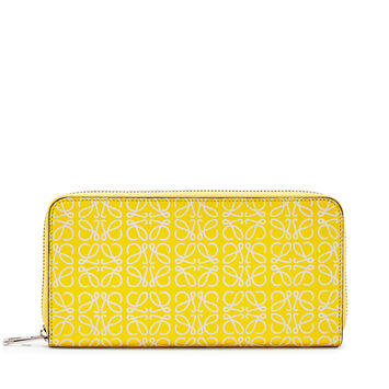 LOEWE Zip Around Wallet Yellow/White front
