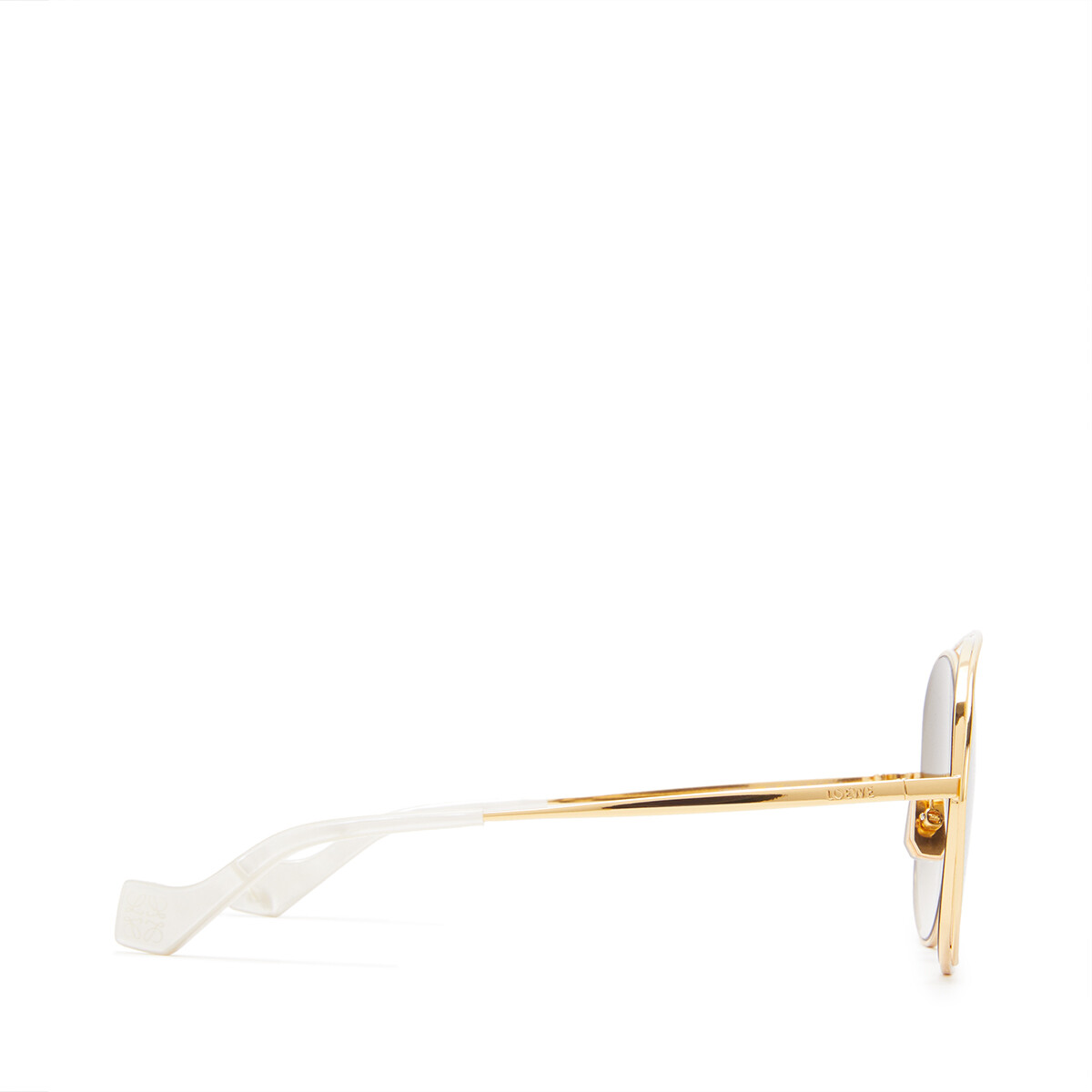 LOEWE Metal Round Sunglasses Sand front