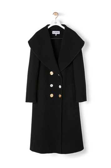 LOEWE Double Breasted Coat 黑色 front