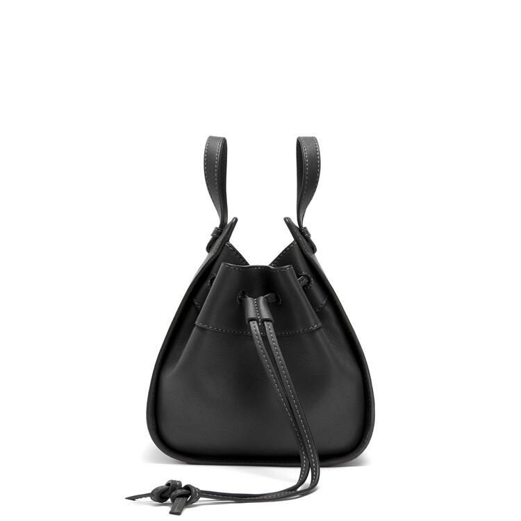 LOEWE Mini Hammock Drawstring bag in nappa calfskin Black pdp_rd