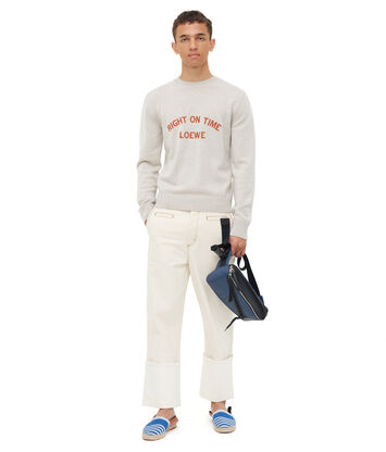 LOEWE Sweater Right On Time Light Grey front