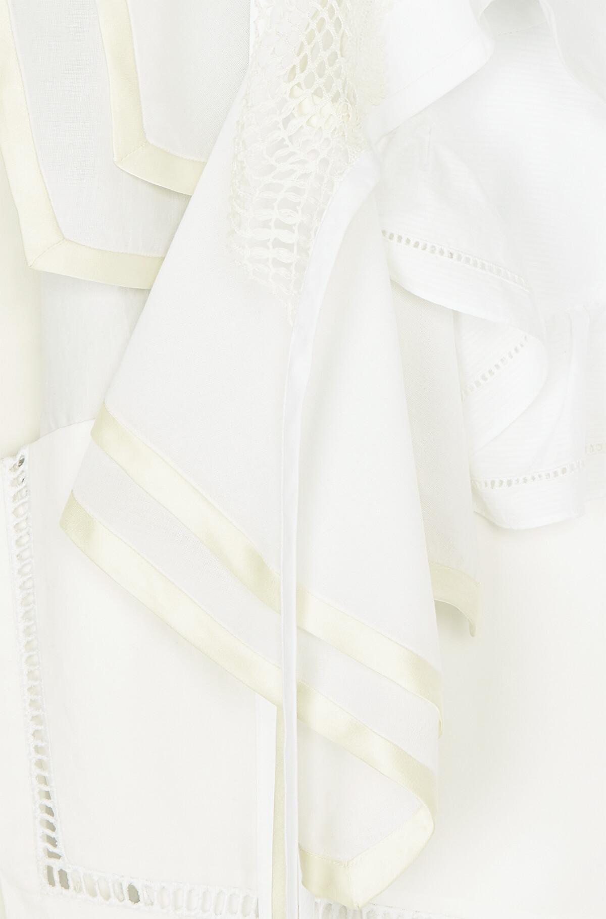 LOEWE Ruffle Top Blanco front