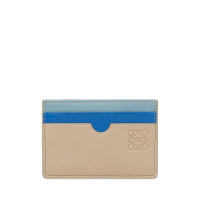 LOEWE Plain Card Holder Sand/Multicolor front