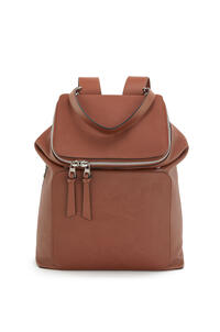LOEWE Goya Backpack in soft grained calfskin Cognac pdp_rd