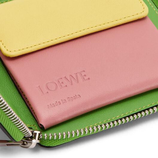 LOEWE Rainbow Square Zip Wallet Tan/Multicolor front