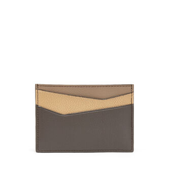 LOEWE Puzzle Plain Card Holder Dark Taupe/Desert front