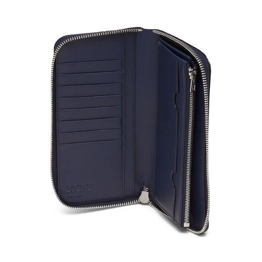 LOEWE Puzzle Open Wallet Navy Blue front