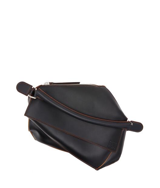 LOEWE Puzzle Edge Large Bag Black front