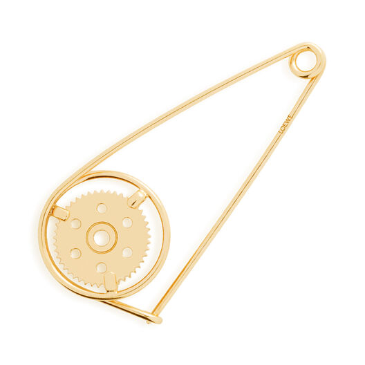LOEWE Small Meccano Pin Gold front