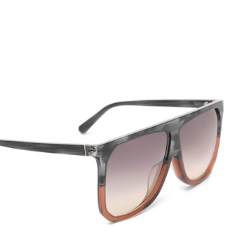 LOEWE Filipa Sunglasses Grey/Brown/Gradient Yellow front