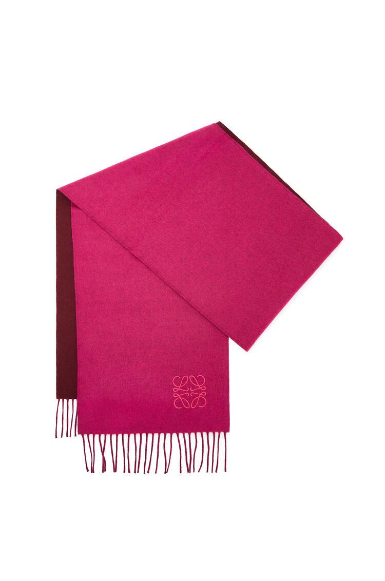 LOEWE 30 x 180 cm ロエベ アナグラム スカーフ(ウール&カシミヤ) magenta/burgundy pdp_rd