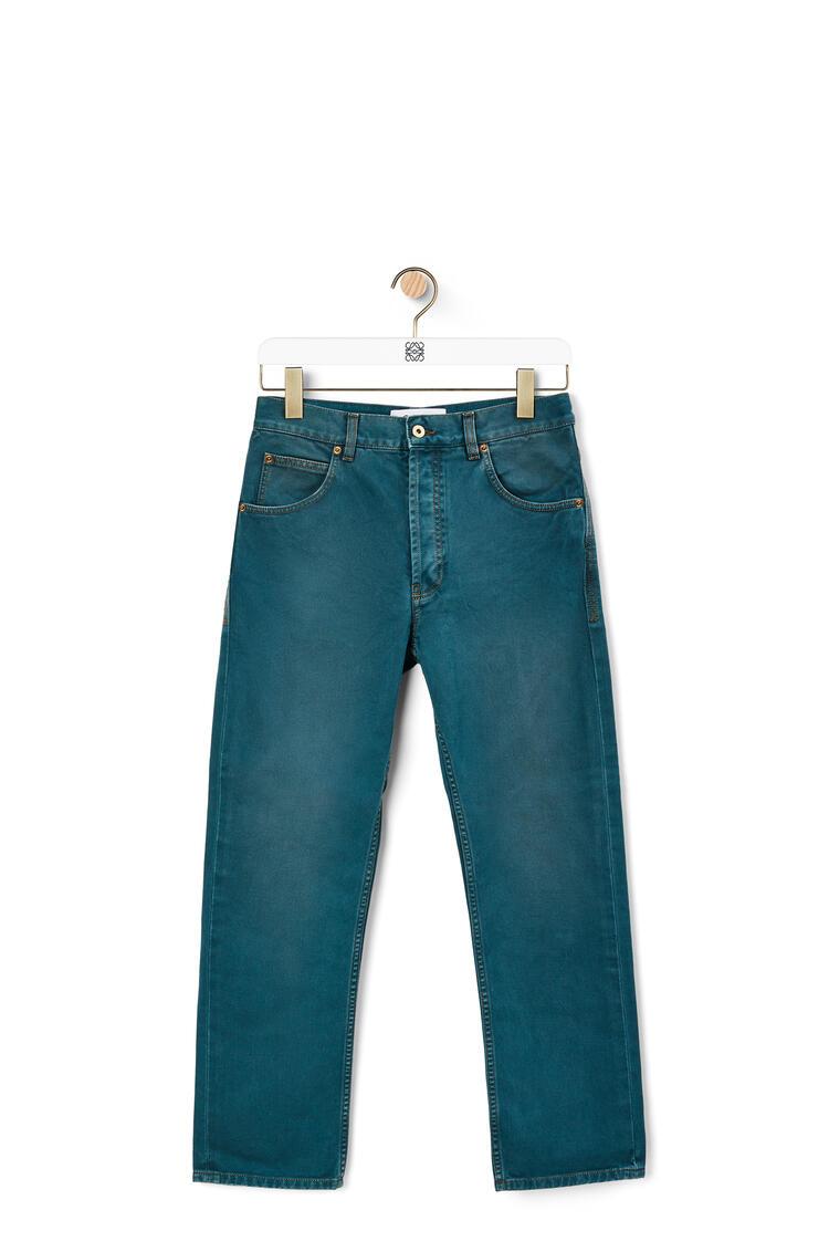 LOEWE 棉质修身牛仔裤 石油色 pdp_rd