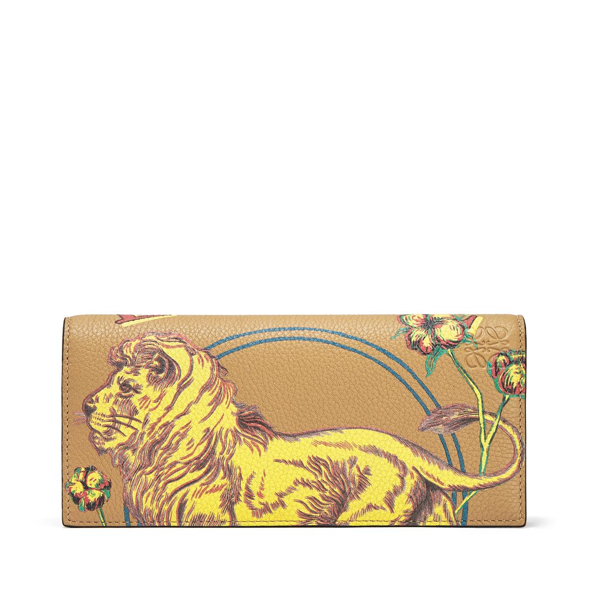 LOEWE Long Horizontal Wallet Lion Desert front