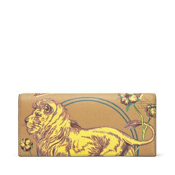 Long Horizontal Wallet Lion