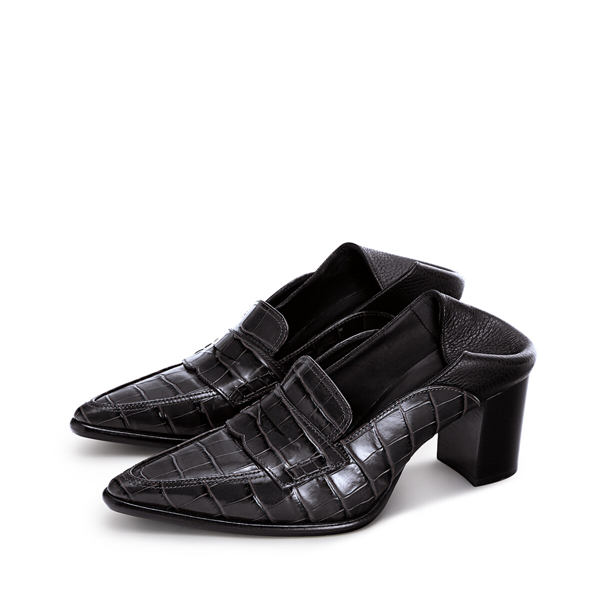 LOEWE Pointy Loafer 70 黑色/黑色 front