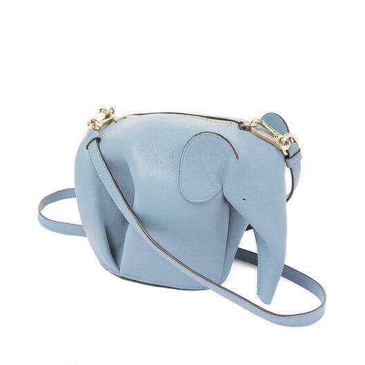 LOEWE Elephant Mini Bag Stone Blue front