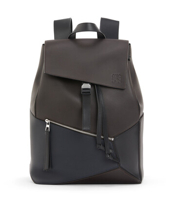 LOEWE Puzzle Backpack Carbon/Deep Blue front