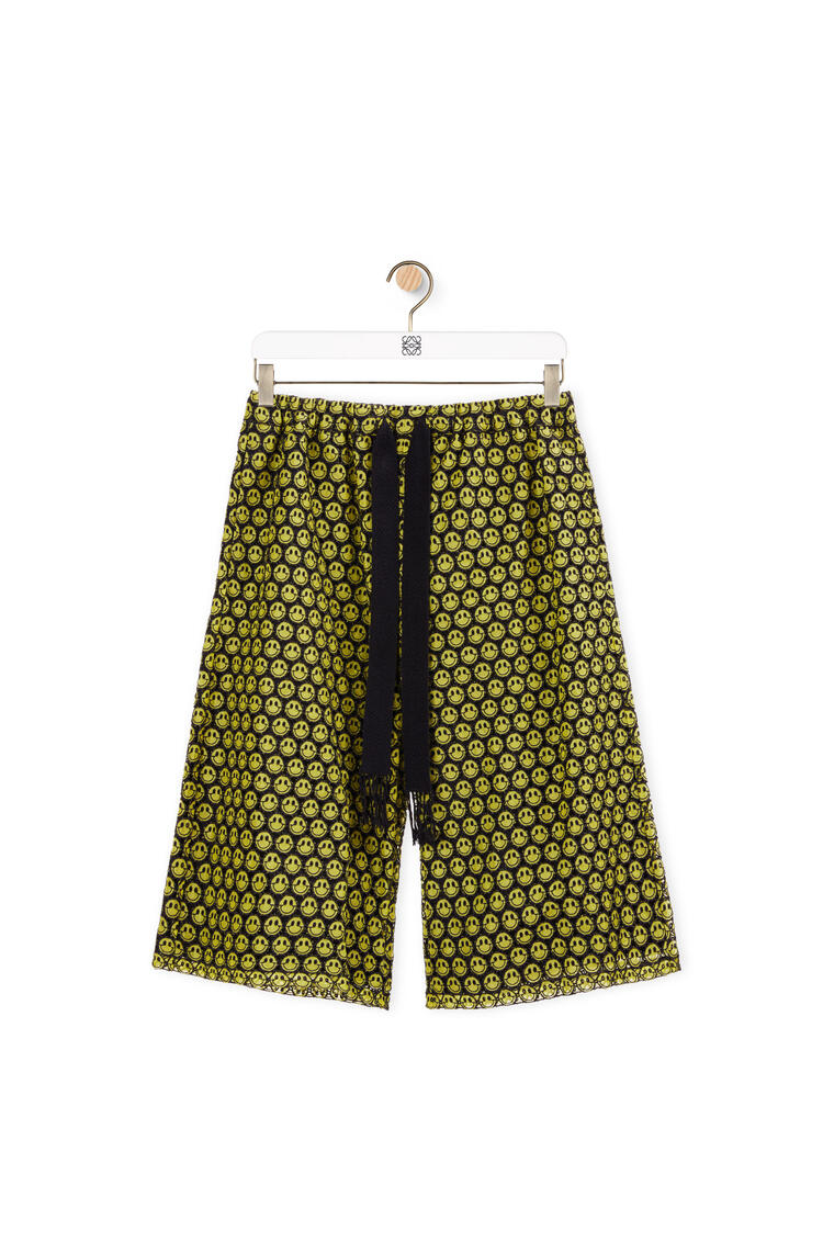 LOEWE Smiley shorts in cotton Yellow/Black pdp_rd