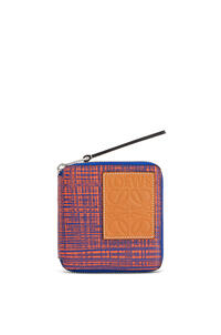 LOEWE Square zip wallet in calfskin Electric Blue/Orange pdp_rd