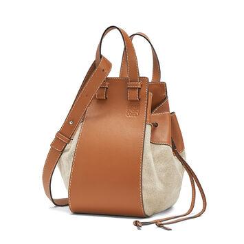 LOEWE Hammock Dw Medium Bag Tan/Natural front