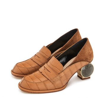 LOEWE Strass Slip On Loafer Desert front