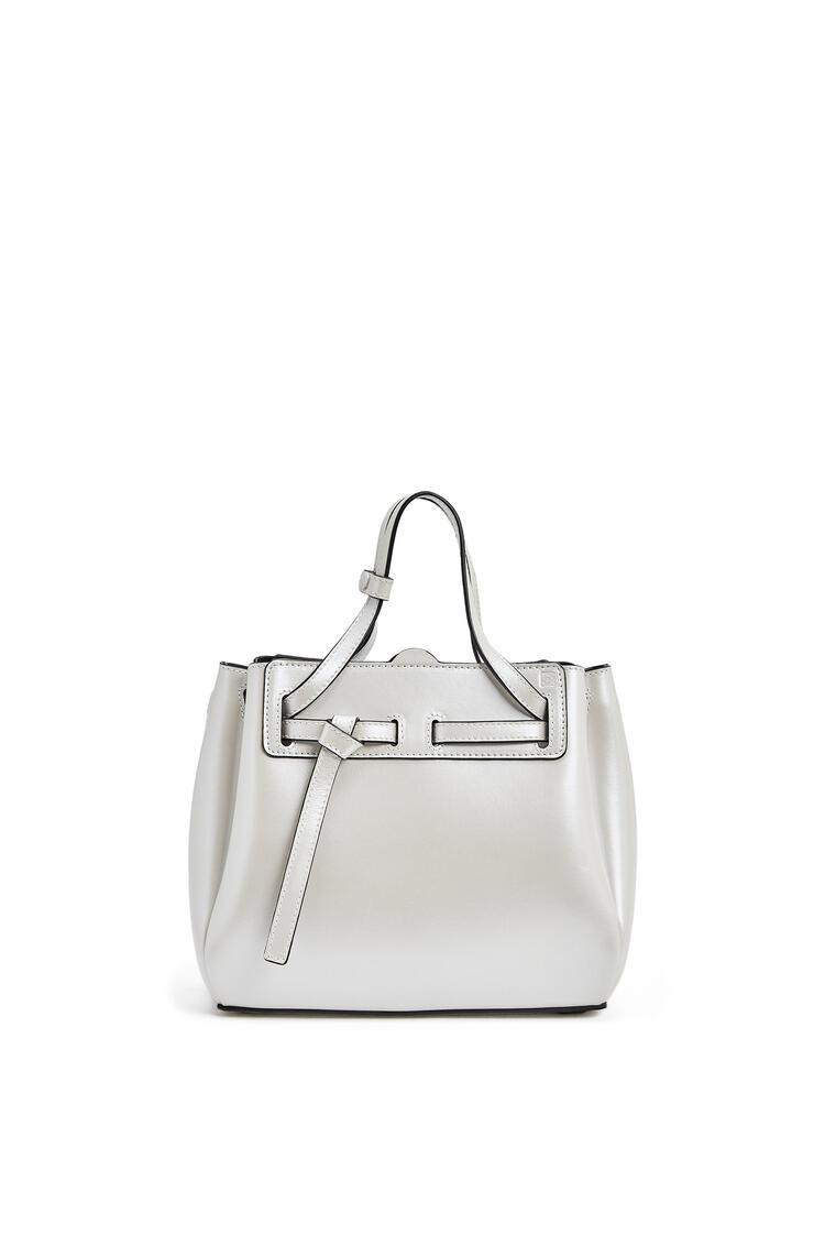 LOEWE Mini Lazo bag in pearlized box calfskin Soft White pdp_rd