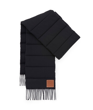 LOEWE 26X226 Padded Scarf Nylon Navy Blue front