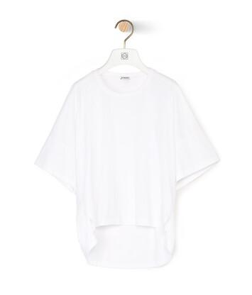 LOEWE ショート オーバーサイズ アナグラム Tシャツ (コットン) ホワイト front