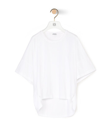 LOEWE Short Oversize Anagram T-Shirt Blanco front