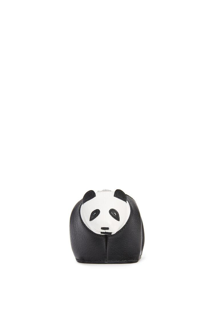 LOEWE Panda charm in calfskin Black/White pdp_rd